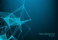 Fondo astratto di tecnologia con la linea ed i punti collegati Grande visualizzazione di dati Visualizzazione del contesto di pro illustrazione di stock