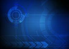 Fondo astratto di tecnologia del cerchio e della freccia royalty illustrazione gratis