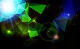Fondo astratto di tecnologia del chiarore della lente. Fotografie Stock Libere da Diritti