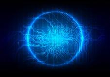 Fondo astratto di tecnologia del circuito Illustrazione Immagine Stock Libera da Diritti