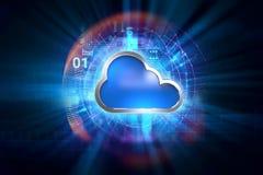 Fondo astratto di tecnologia del sistema informatico della nuvola Fotografie Stock Libere da Diritti