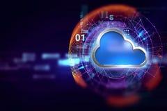Fondo astratto di tecnologia del sistema informatico della nuvola Fotografia Stock Libera da Diritti