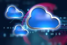 Fondo astratto di tecnologia del sistema informatico della nuvola Immagini Stock