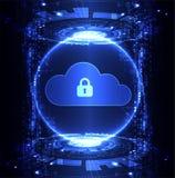 Fondo astratto di tecnologia della nuvola di sicurezza illustrazione vettoriale