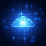 Fondo astratto di tecnologia della nuvola in futuro, illustrazione di vettore illustrazione vettoriale