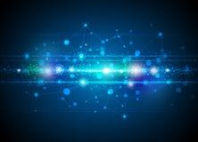 Fondo astratto di tecnologia delle molecole Fotografia Stock Libera da Diritti