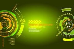 fondo astratto di tecnologia di fantascienza per progettazione alta tecnologia futuristica - vettore illustrazione di stock