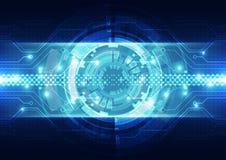 Fondo astratto di tecnologia di ingegneria di vettore, illustrazione Immagine Stock Libera da Diritti