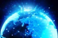 Fondo astratto di tecnologia di Digital, fondo binario, fondo futuristico, concetto del Cyberspace Immagini Stock