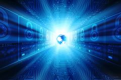 Fondo astratto di tecnologia di Digital, fondo binario, fondo futuristico, concetto del Cyberspace Immagine Stock Libera da Diritti