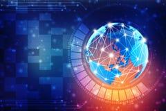 Fondo astratto di tecnologia di Digital, fondo binario, fondo futuristico, concetto del Cyberspace Immagine Stock