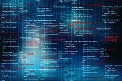 Fondo astratto di tecnologia di Digital, fondo di codice binario fotografia stock libera da diritti