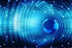 Fondo astratto di tecnologia di Digital Concetto globale del Internet Illustrazione di Stock