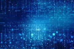 Fondo astratto di tecnologia, fondo futuristico, concetto del Cyberspace fotografia stock