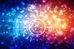 Fondo astratto di tecnologia, fondo futuristico, concetto del Cyberspace illustrazione di stock
