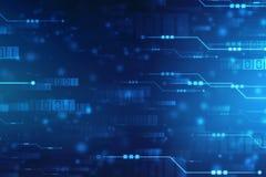 Fondo astratto di tecnologia, fondo futuristico, concetto del Cyberspace royalty illustrazione gratis