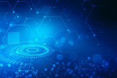 Fondo astratto di tecnologia, fondo futuristico, concetto del Cyberspace immagine stock