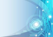 Fondo astratto di tecnologia, illustrazione di vettore Fotografie Stock