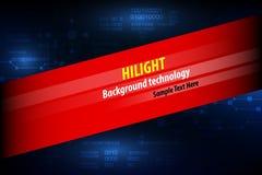 Fondo astratto di tecnologia per il testo di progettazione Illu di vettore illustrazione di stock