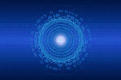Fondo astratto di tecnologia per Internet delle cose Fotografie Stock Libere da Diritti