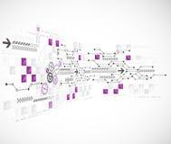 Fondo astratto di tecnologie informatiche per il vostro affare illustrazione vettoriale