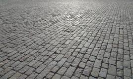 Fondo astratto di vecchia pavimentazione del ciottolo Fotografie Stock