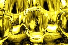 Fondo astratto di vetro dell'oro Fotografia Stock
