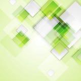Fondo astratto di vettore dei quadrati verde chiaro royalty illustrazione gratis