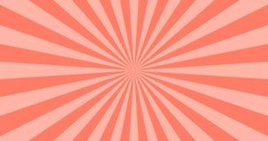 Fondo astratto di vettore dei raggi di Coral Sun di vita Progettazione soleggiata 4K di estate illustrazione vettoriale