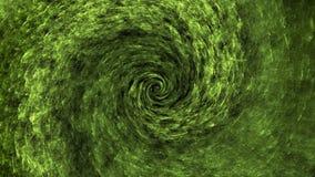 Fondo astratto di vortice verde dello spazio illustrazione vettoriale