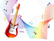 Fondo astratto di Wave di musica Fotografia Stock Libera da Diritti