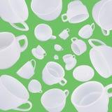 Fondo astratto differente delle tazze di caffè Fotografie Stock
