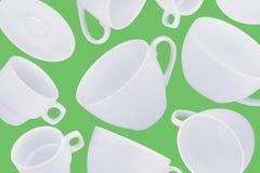 Fondo astratto differente delle tazze di caffè Fotografia Stock