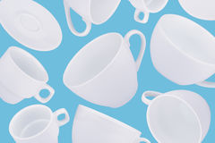 Fondo astratto differente delle tazze di caffè Fotografia Stock Libera da Diritti
