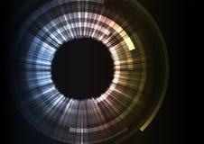 Fondo astratto digitale di strato dello strato del cerchio grigio immagini stock libere da diritti