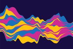 Fondo astratto dinamico con le onde di colore Illustrazione di vettore Immagini Stock