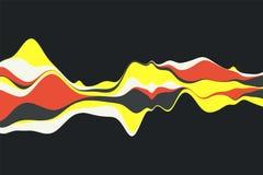 Fondo astratto dinamico con le onde di colore Illustrazione di vettore Immagine Stock Libera da Diritti