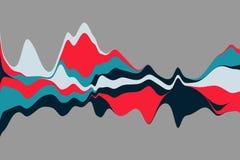 Fondo astratto dinamico con le onde di colore Illustrazione di vettore illustrazione vettoriale