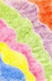 Fondo astratto disegnato con le matite colorate, il wo dell'autore Immagine Stock Libera da Diritti