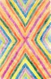 Fondo astratto disegnato con le matite colorate, il wo dell'autore Fotografie Stock Libere da Diritti