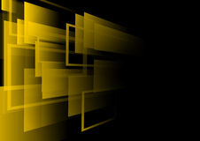 Fondo astratto e nero quadrato giallo illustrazione di stock