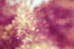 Fondo astratto elegante festivo con struttura delle luci e delle stelle del bokeh Fotografia Stock Libera da Diritti