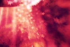 Fondo astratto elegante festivo con struttura delle luci e delle stelle del bokeh Fotografie Stock Libere da Diritti