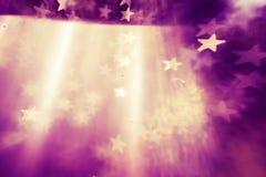 Fondo astratto elegante festivo con struttura delle luci e delle stelle del bokeh Immagine Stock Libera da Diritti