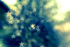 Fondo astratto elegante festivo con struttura delle luci e delle stelle del bokeh Immagini Stock Libere da Diritti