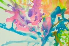 Fondo astratto fatto da colore di acqua Immagine Stock