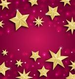 Fondo astratto fatto delle stelle dorate illustrazione di stock