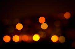Fondo astratto festivo di feste di Natale con le luci e le stelle defocused del bokeh Immagine Stock