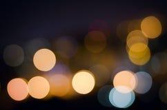 Fondo astratto festivo di feste di Natale con le luci e le stelle defocused del bokeh Immagini Stock Libere da Diritti