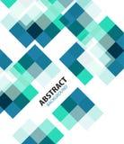 Fondo astratto geometrico blu quadrato illustrazione di stock